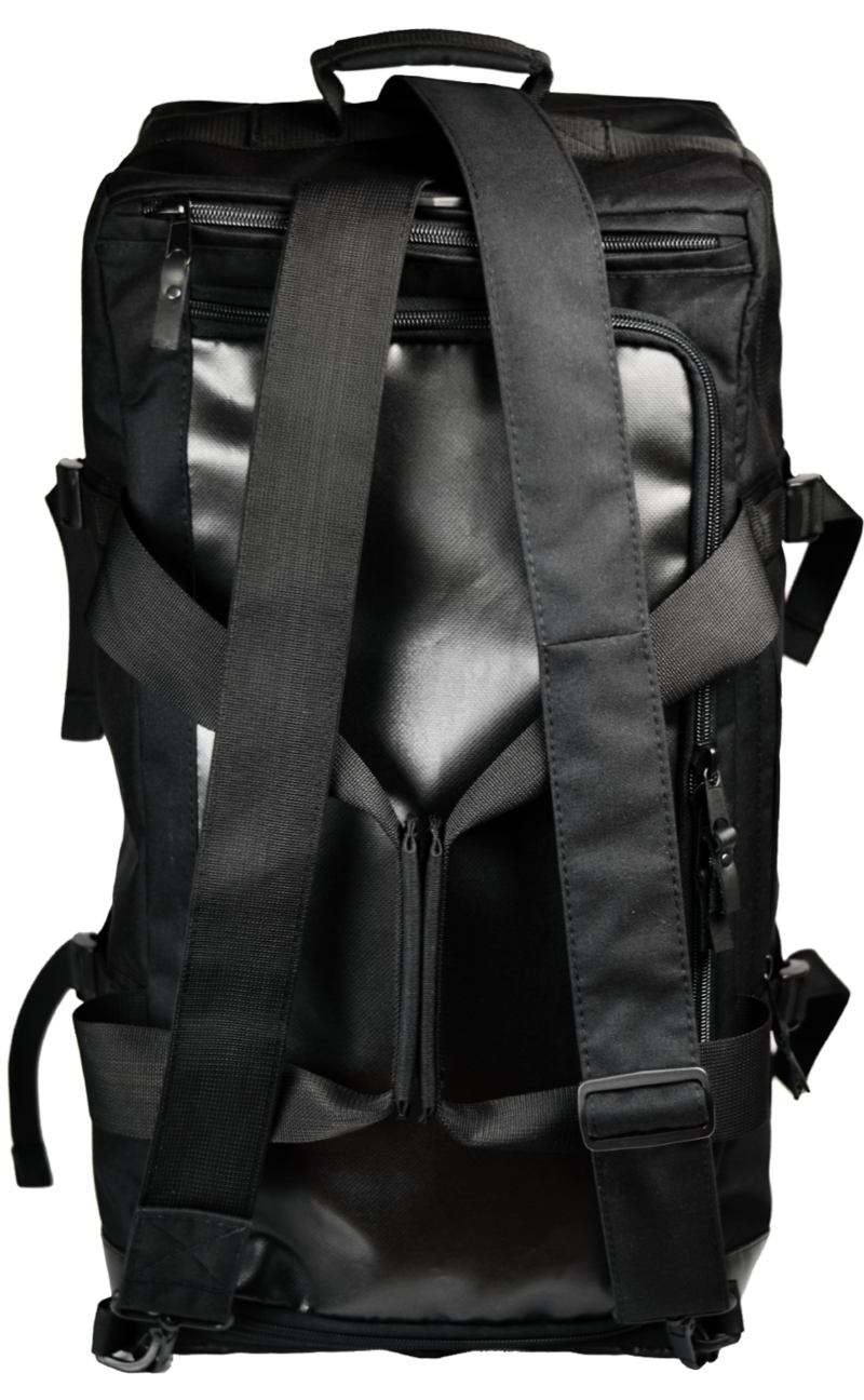 Optimized gud travel bag black  like a backpack